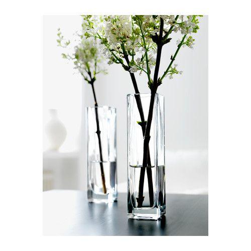 Rektangel Vase Clear Glass