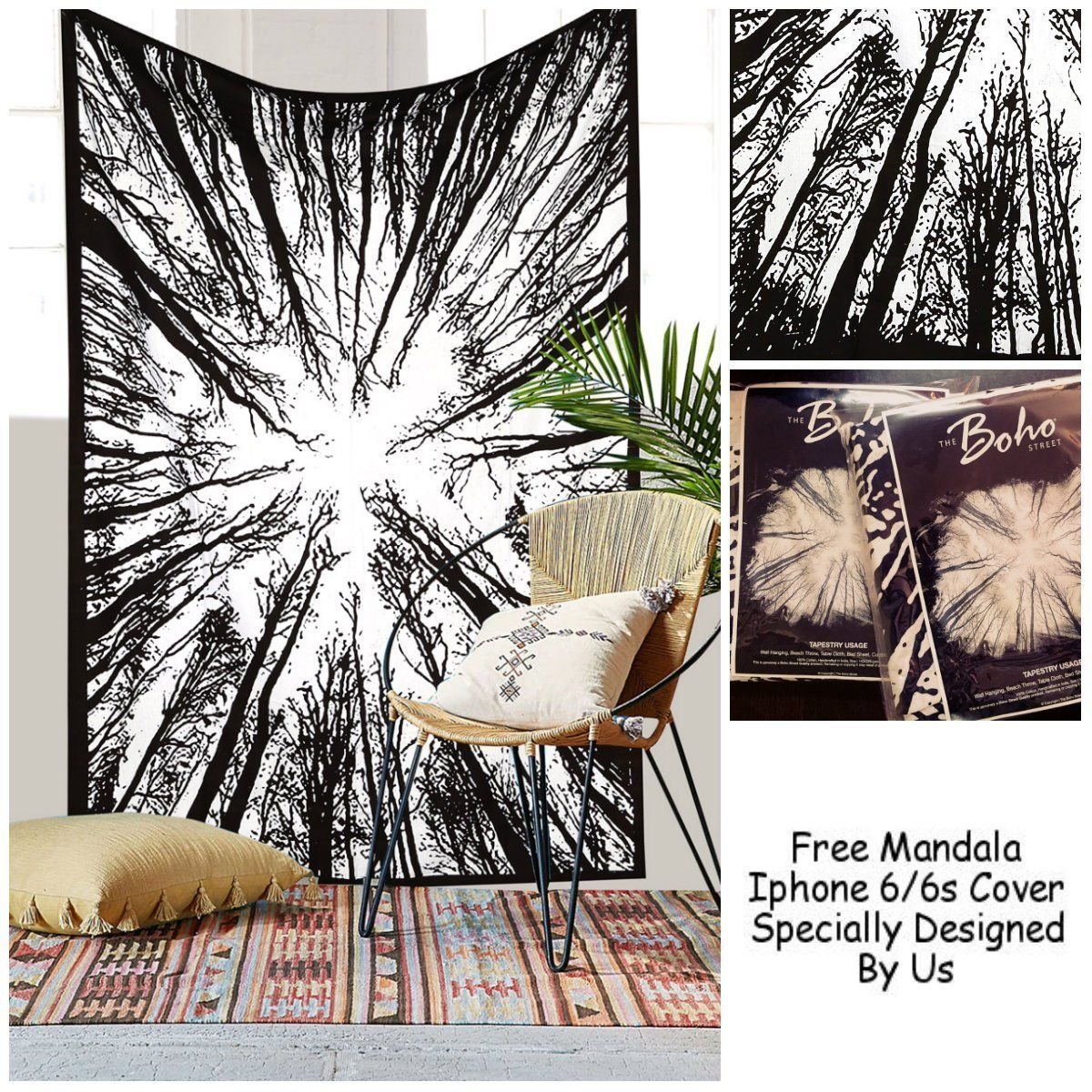 Amazon exclusive psychedelic forest tapestry by