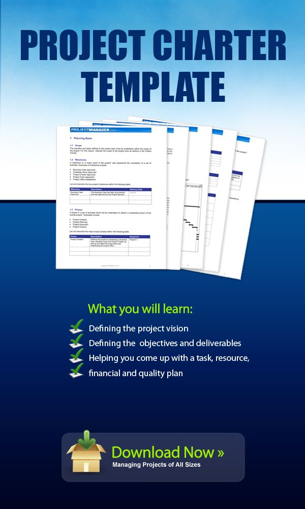 Download This Project Charter Template To Define The Scope Of Your