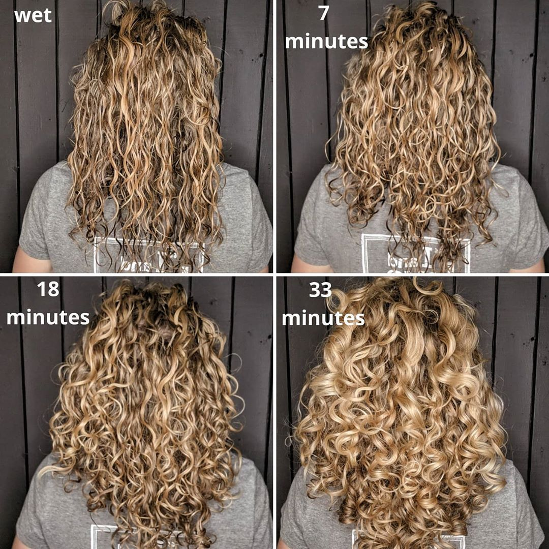 Curlicue Lu Shared A Photo On Instagram Wet To Dry Diffusing Vs Air Drying It Takes Me About 30 Minut Curly Girl Method Hair Routines Curly Hair Routine