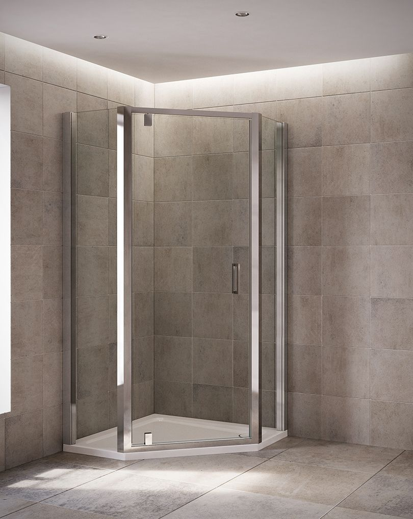 The Mira Leap Pentagon Enclosure Fits Neatly Into The Corner Of A Bathroom Making Them The Perfect Option When Spa Shower Enclosure Bathtub Shower Combo Shower