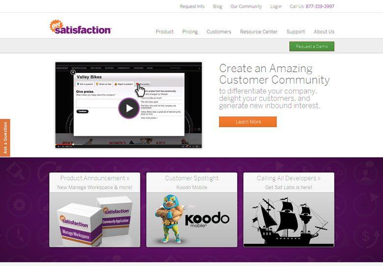 Get Satisfaction New Responsive Website Awes Customers Flaunt Responsive Web Design Resources Web Template Web Design