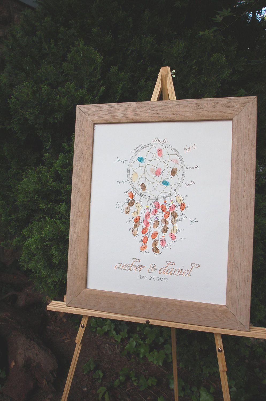 Fingerprint Guestbook Dreamcatcher Fingerprint Guestbook Dreamcatcher