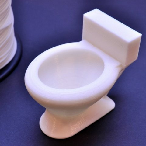 Download on https://cults3d.com #3Dprinting 3D Toilet Shaped Cup, 102Creations