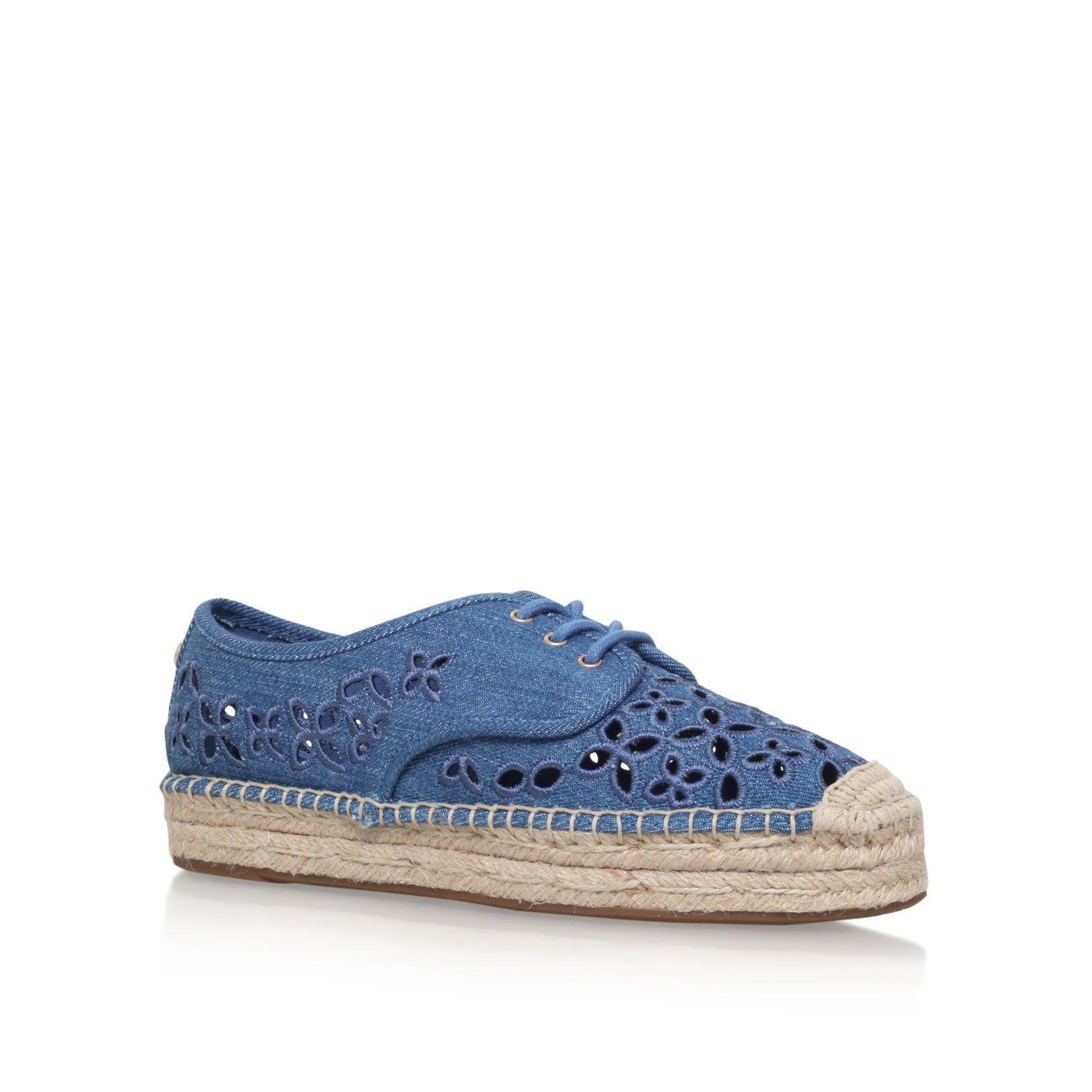 Michael Kors Darci flat lace up espadrilles, Blue