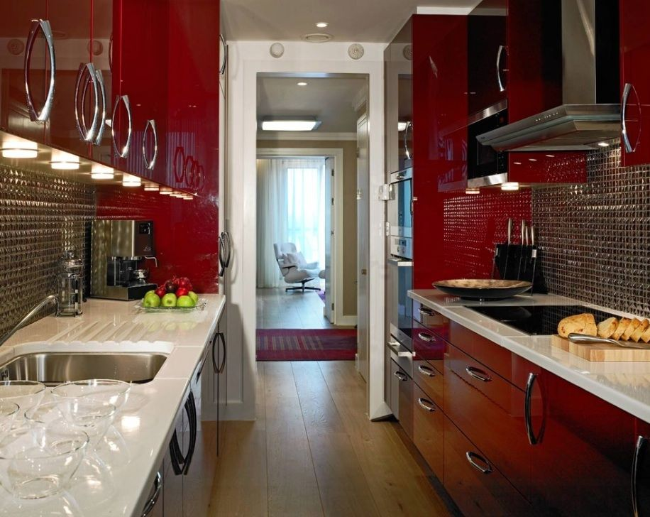 red lacquer kitchen 10 Ways to Make Your Home Look Elegant on a ...