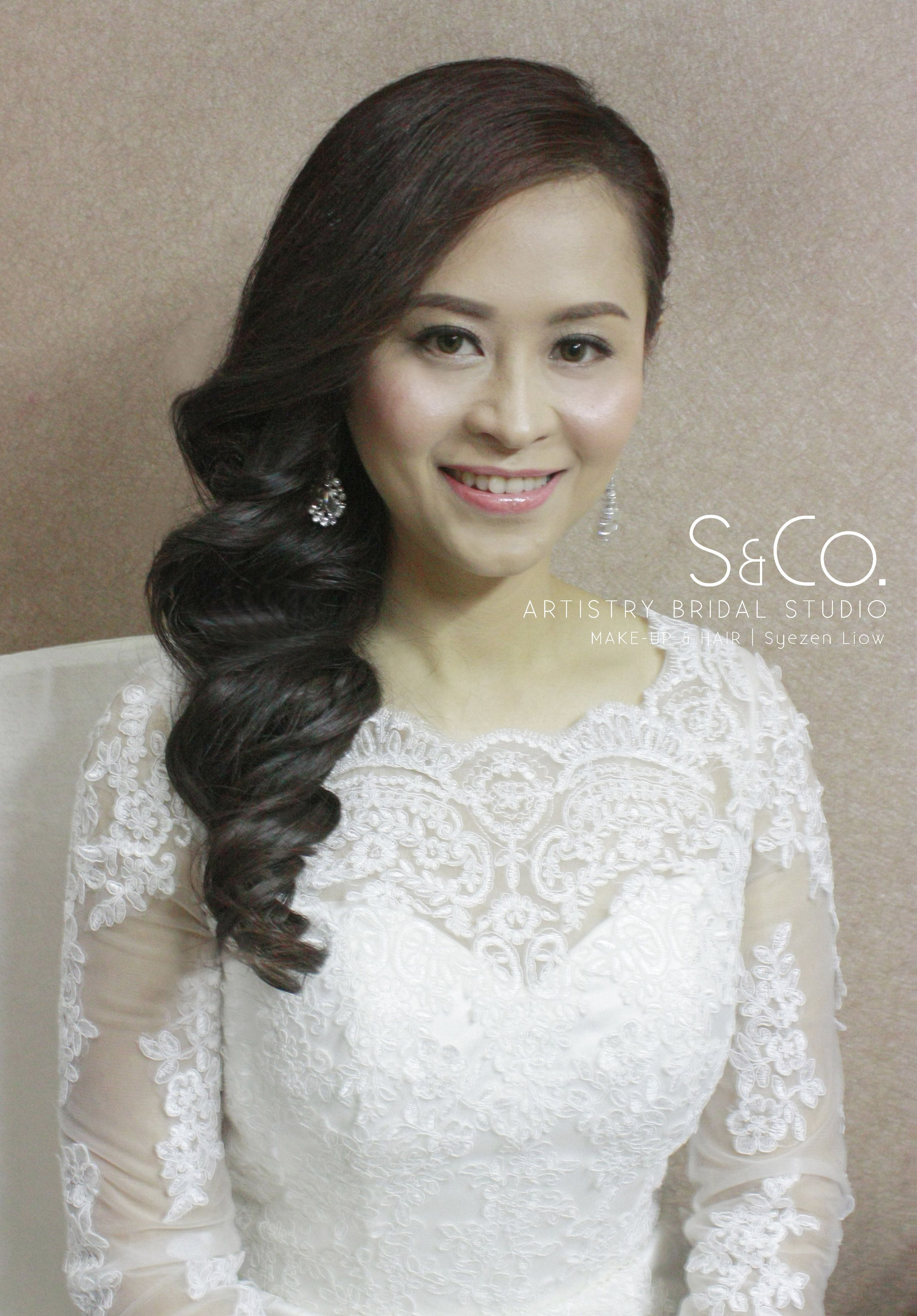 Bridal Hair Waving Hairstyle | S & Co. Real Bride | Pinterest ...