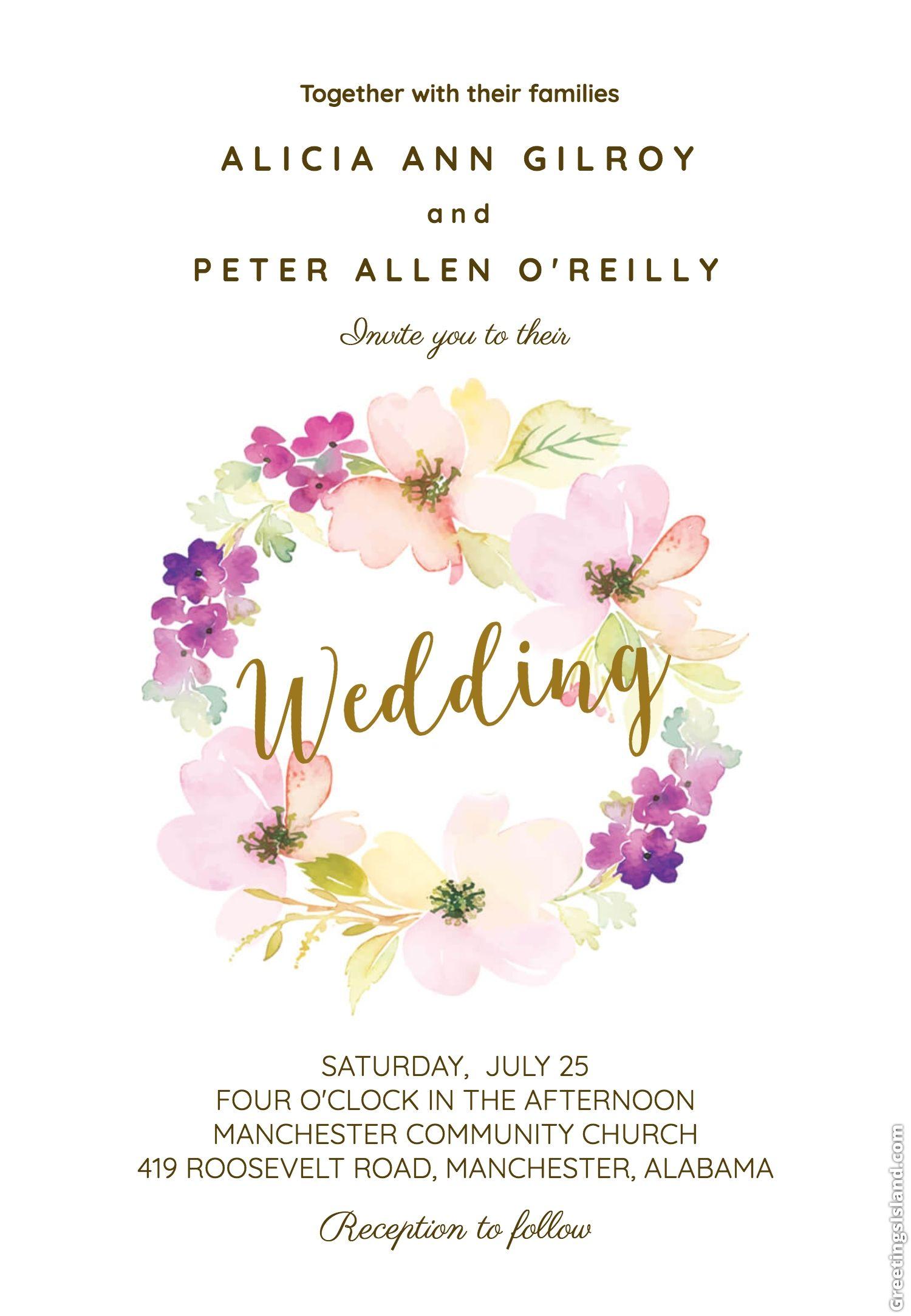 Wonderful 25 Most Popular Wedding Invitations 2019 Free Wedding Invitation Templates Rustic Popular Wedding Invitations Wedding Invitation Templates