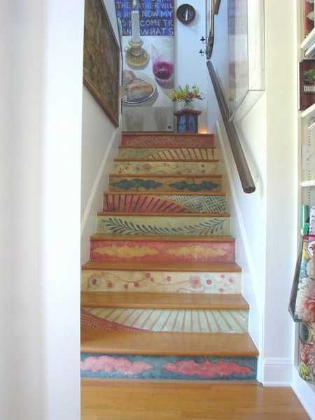 Photo of Revamp Staircase Design with Easy Stencil Decoration Patterns and Painting Ideas
