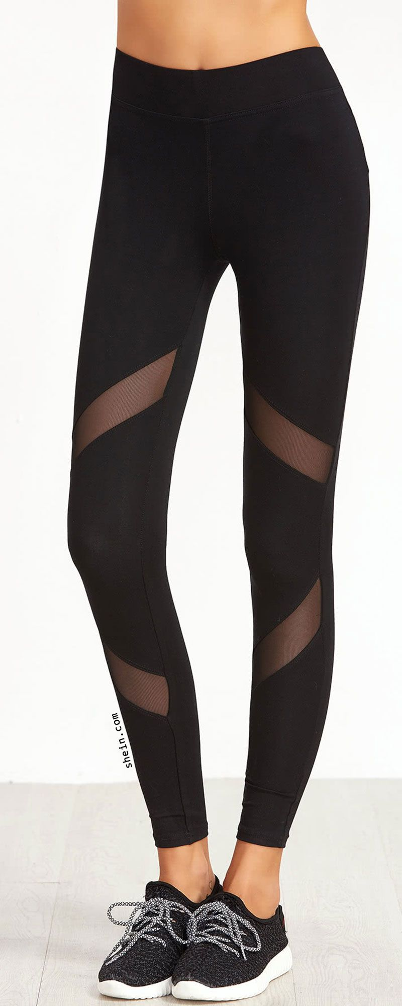 3e929f5339636 Mesh Insert Skinny Leggings | Love to Wear | Mesh leggings, Tight ...