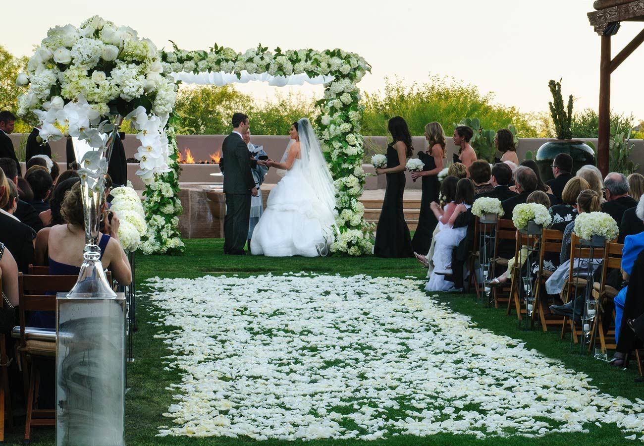 luxury wedding showcase four seasons scottsdale at troon north