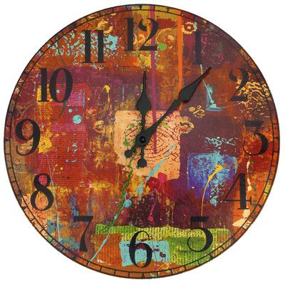 "Oriental Furniture India by Gita 13"" Wall Clock"