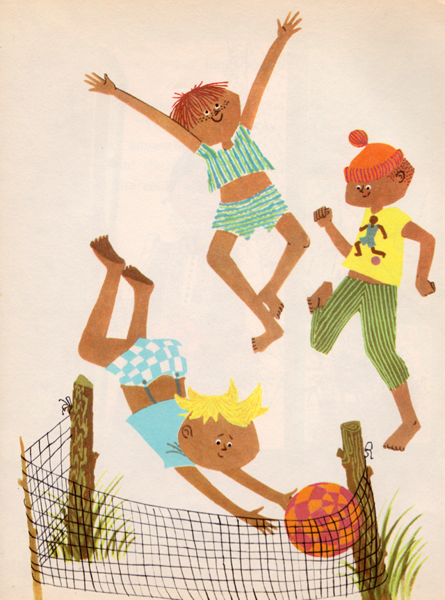 The Lost and Found Ball by Jerrold Beim, adapted from the original by Kay Ware and Lucille Sutherland, illustrated by Ylva Kallstrom (1961).
