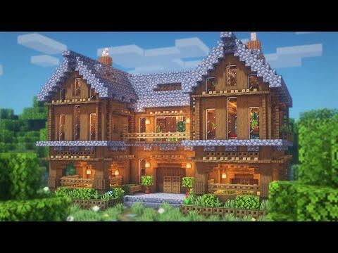 Minecraft How To Build A Spruce Mansion