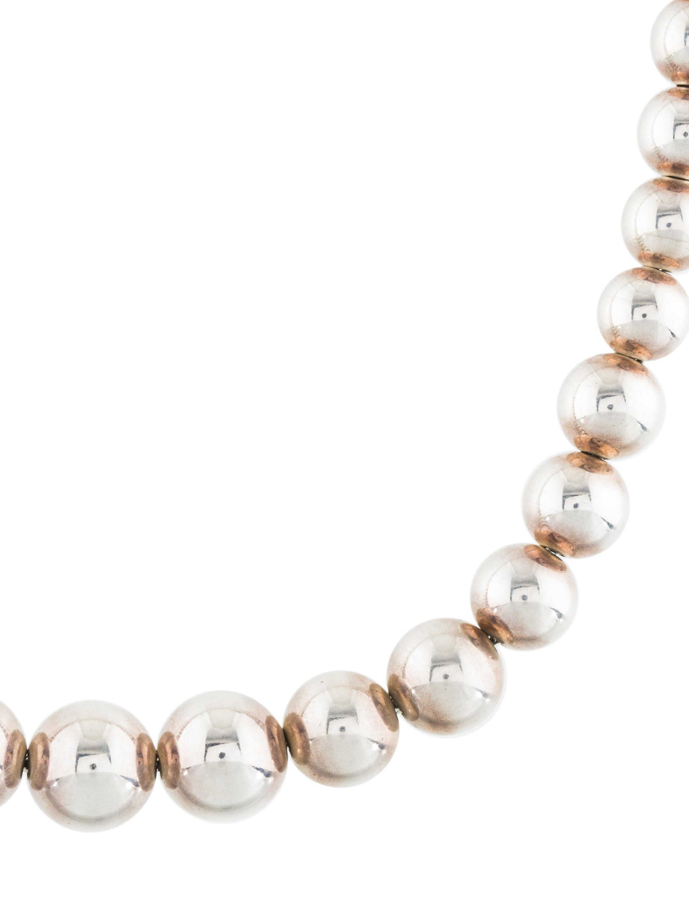 8129e29df Sterling silver Tiffany & Co. HardWear Graduated Ball necklace featuring  high polish finish with lobster clasp.tiffany-co#HardWear#Graduated#Ball
