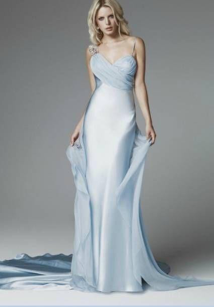 Vestido de noiva simples azul