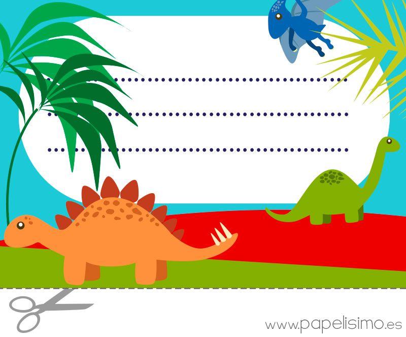 Etiquetas-libros-para-imprimir-dinosaurios   Vuelta al cole ...