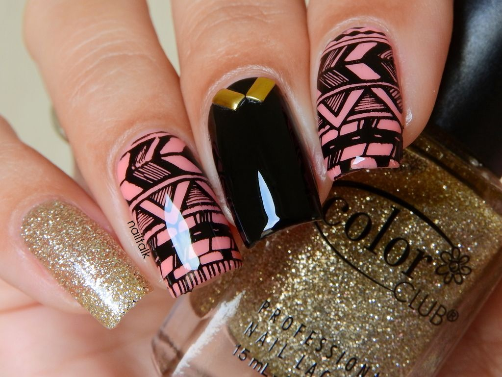 Appeal4 ColorClub Etos stamping nailart tribal | Nail art ...