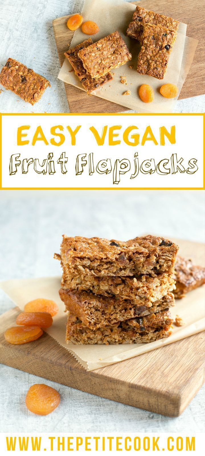 These Energy Packed Vegan Fruit Flapjacks Are Yummy Chewy And Above All Simple To Make A Fruit Fi Delicious Vegan Recipes Vegan Snacks Healthy Vegan Snacks