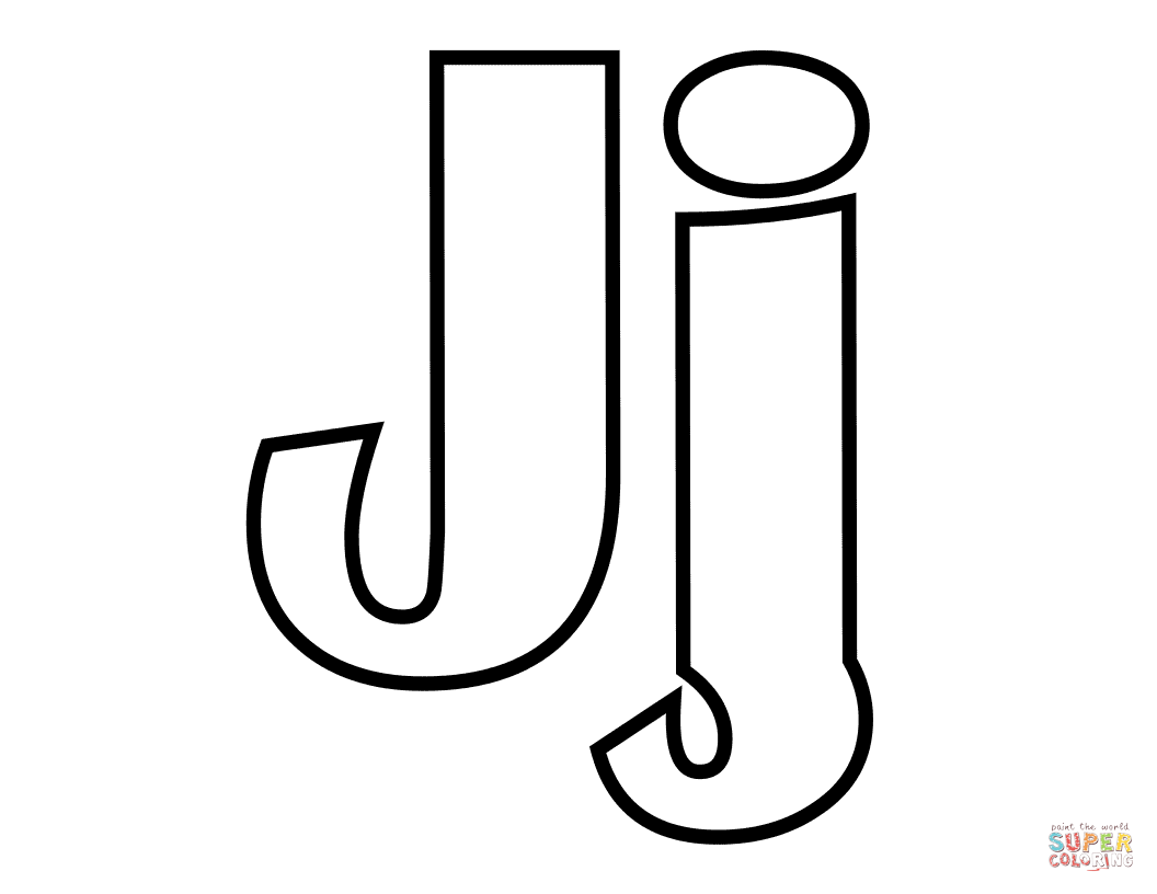 Classic Letter J Coloring Page Free Printable Coloring Pages Free Printable Coloring Pages Alphabet Coloring Pages Stitch Coloring Pages
