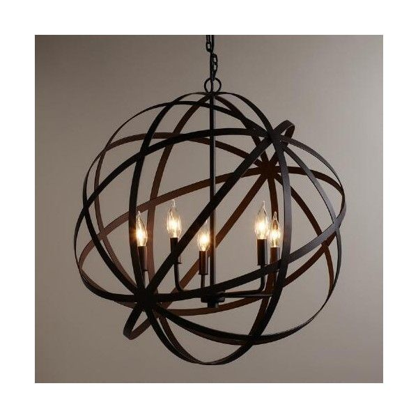 large orb chandelier. Cost Plus World Market Large Metal Orb Chandelier ($250) ❤ Liked On Polyvore Featuring