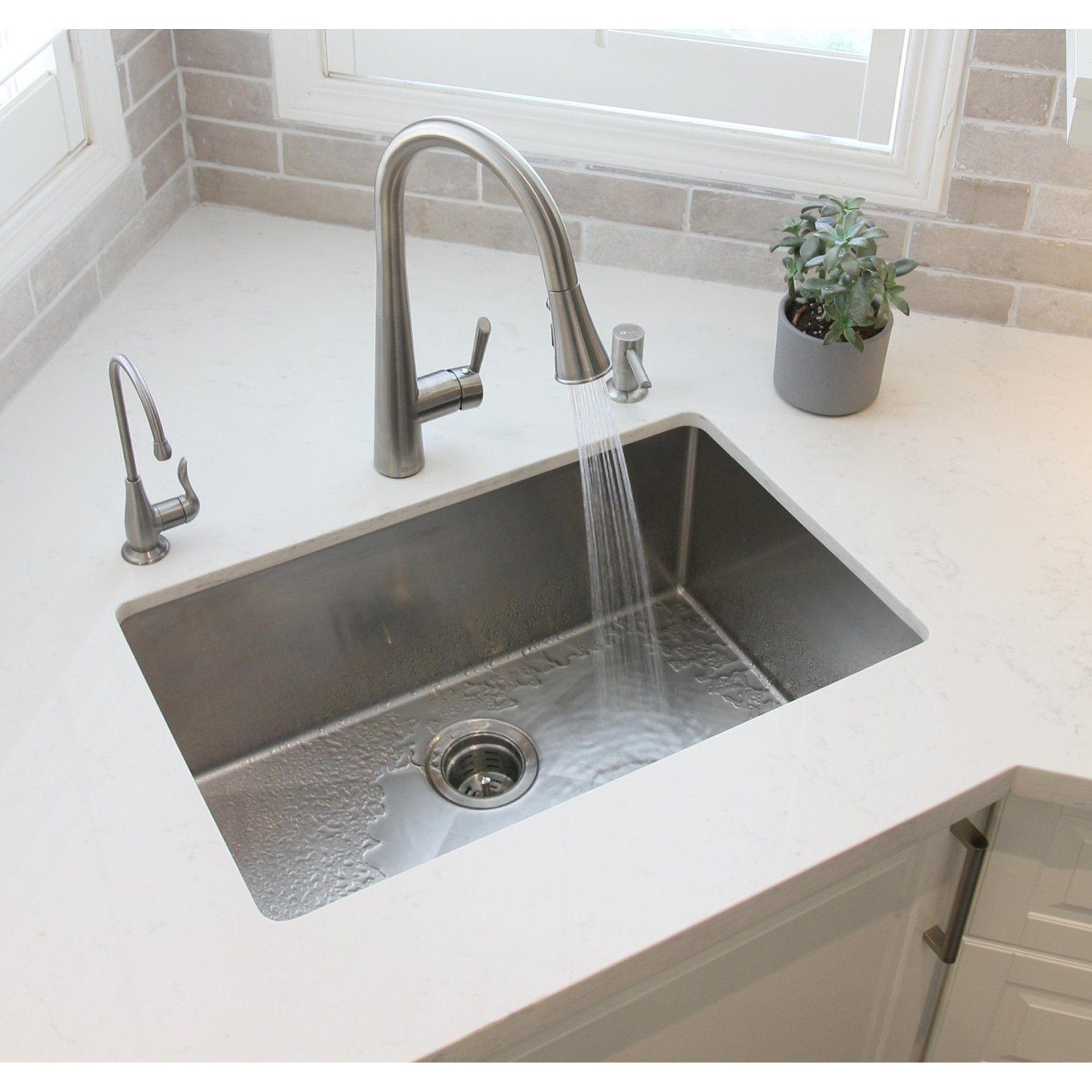 28 Undermount Single Bowl Kitchen Sink 18g Stainless Steel S 306