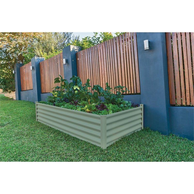 The Organic Garden Co Rectangle Raised Garden Bed Green