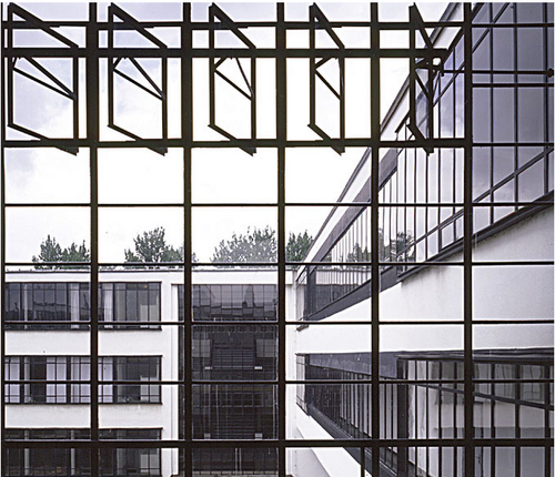walter gropius bauhaus white black windows industrial loft