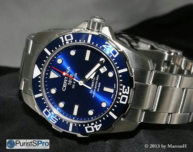 Certina Ds Action Diver Blue Bought For 575 Blue Watches Watches For Men Watches