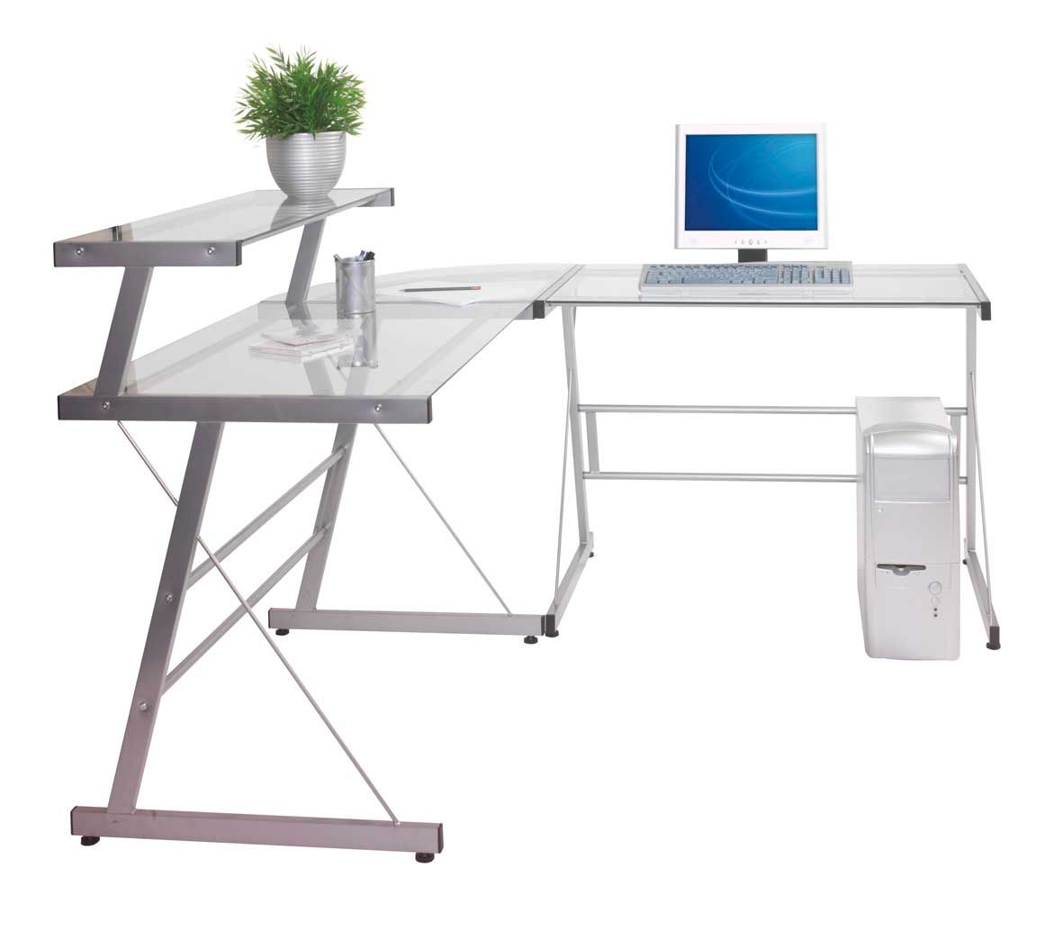 glass office table. Metal And Glass Corner Desk - If You\u0027re Seeking A Much More Contemporary Appearance To Your Office You Will Want Consider Table