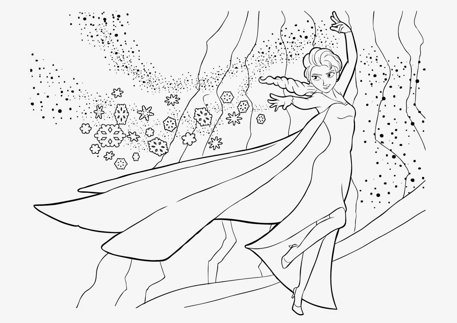 Queen Elsa Free Coloring Page | Free Download Coloring ...