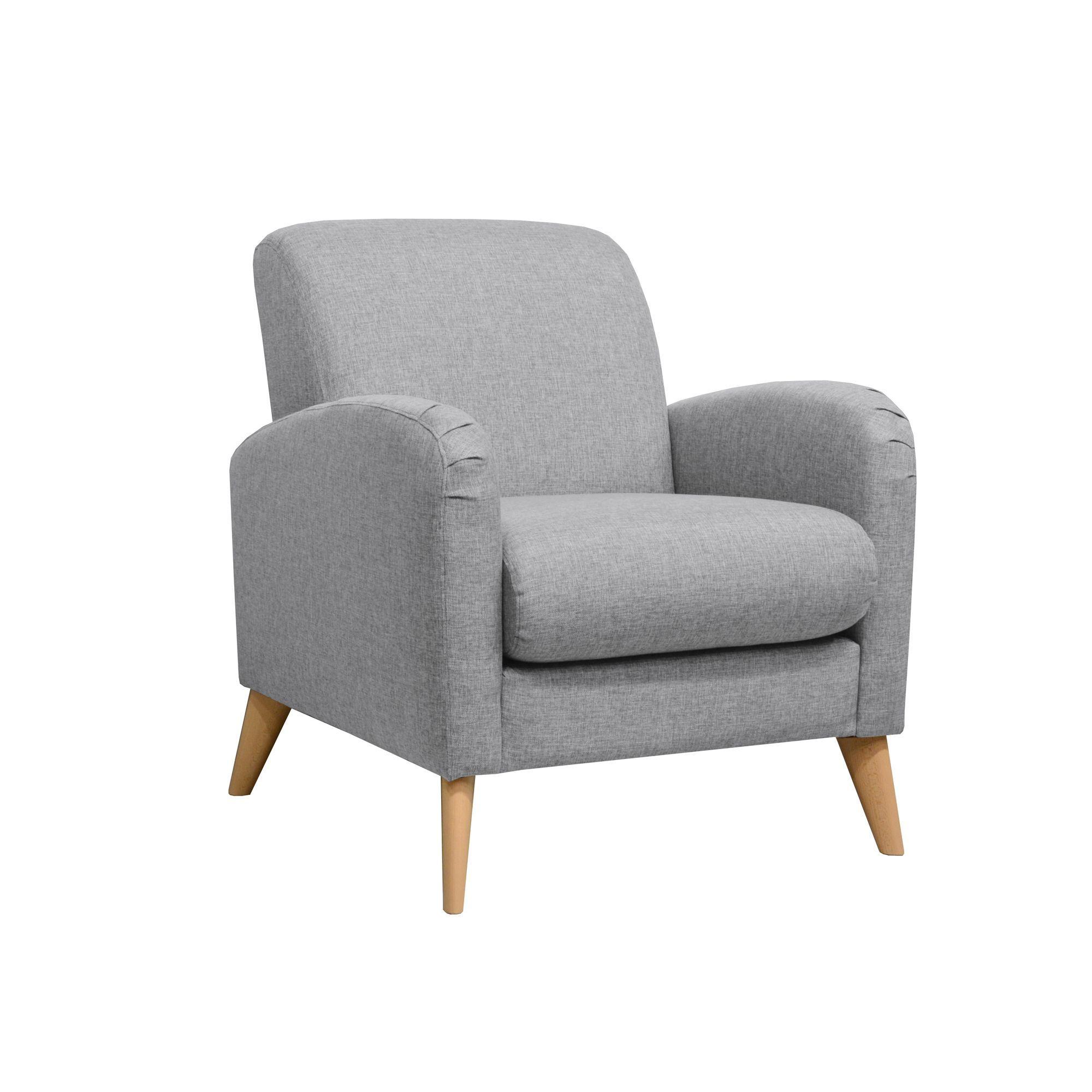 fauteuil r tro gris gris seventy fauteuils fauteuils et poufs salon et salle manger. Black Bedroom Furniture Sets. Home Design Ideas