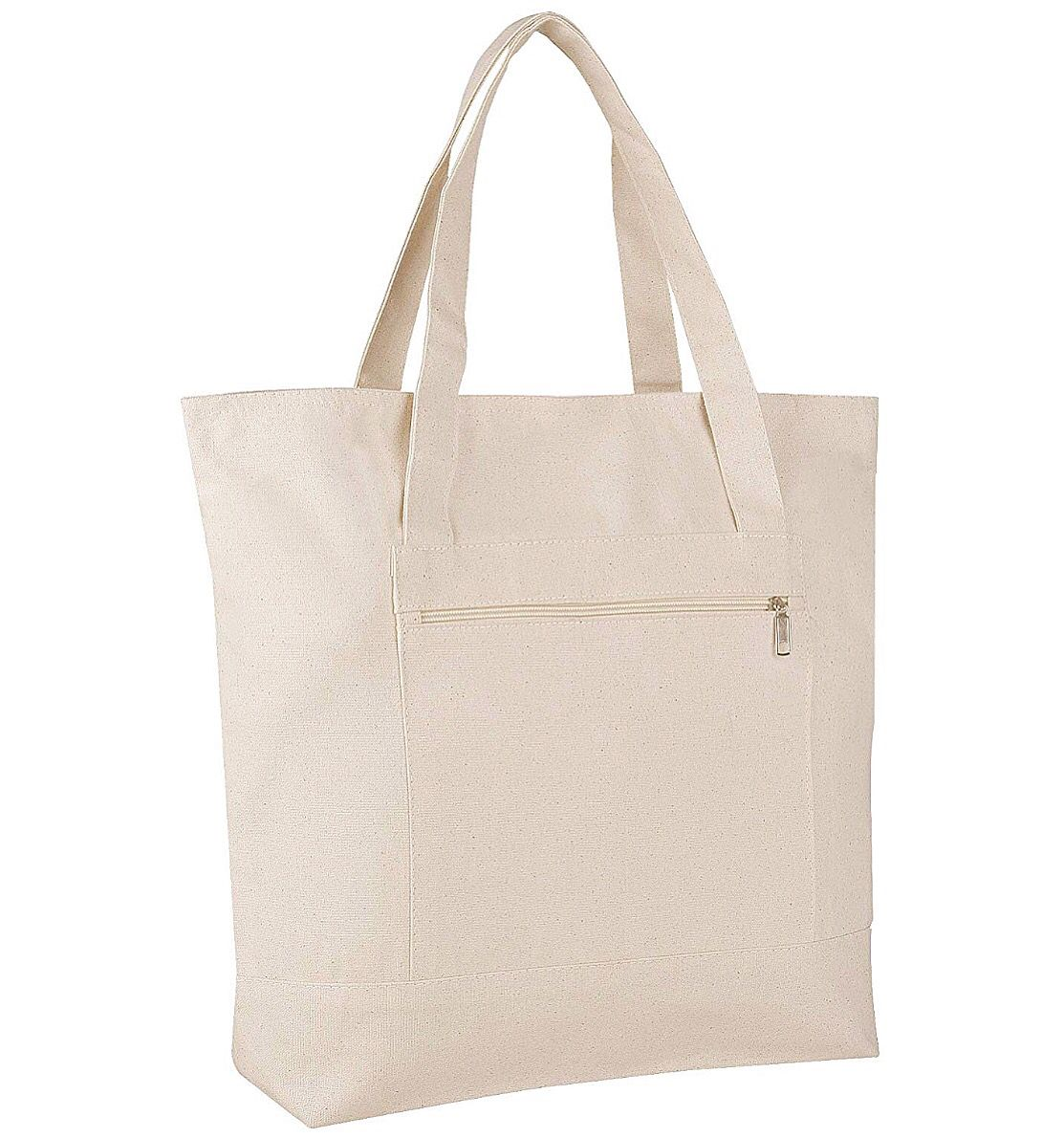 Canvas Tote Bag with Interior Pocket and 100/% Cotton Reusable Shoulder Hand Bag for Women