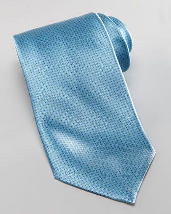 Stefano Ricci Micro-Neat Silk Tie, Mint - Neiman Marcus
