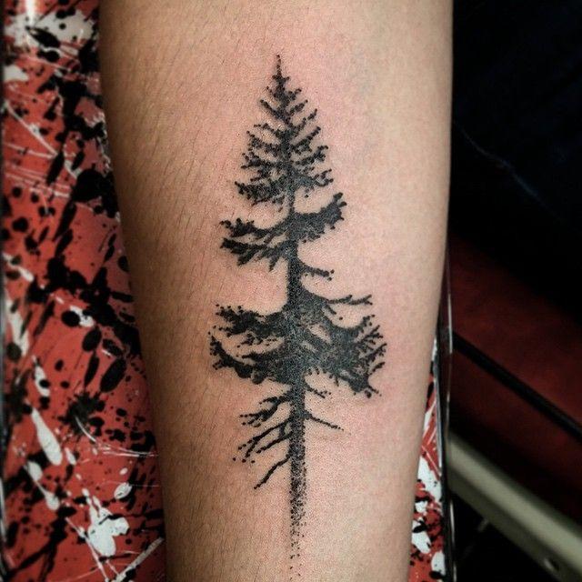 Little tree tattoo by ramshackle tattoo piercedhearts for Pierced hearts tattoo parlor