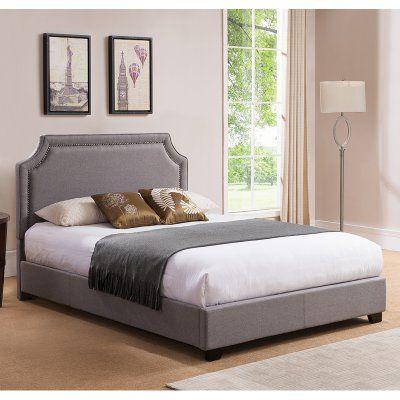 Mantua Brantford Platform Bed Upholstered Platform Bed Grey