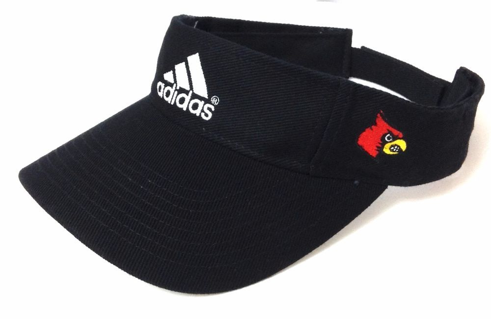 U-of-L LOUISVILLE CARDINALS SUN VISOR Black White ADIDAS golf hat cap  Men Women  adidas  LouisvilleCardinals 97fb89a2295