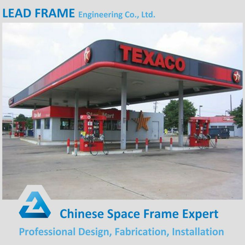 Xuzhou Lead Frame Steel Structure Gas Station Canopy Roof