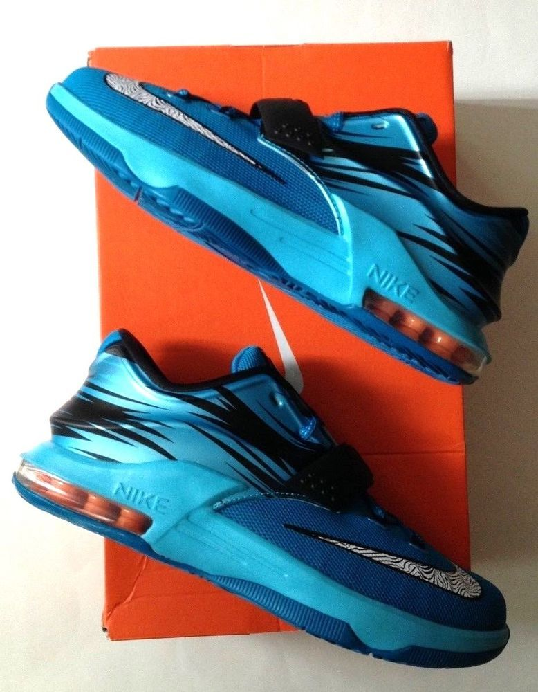 8382514a639 Nike KD VII 7 Clearwater 669942-414 Size 5.5 GS Youth Boy s Girl s Blue  Warriors