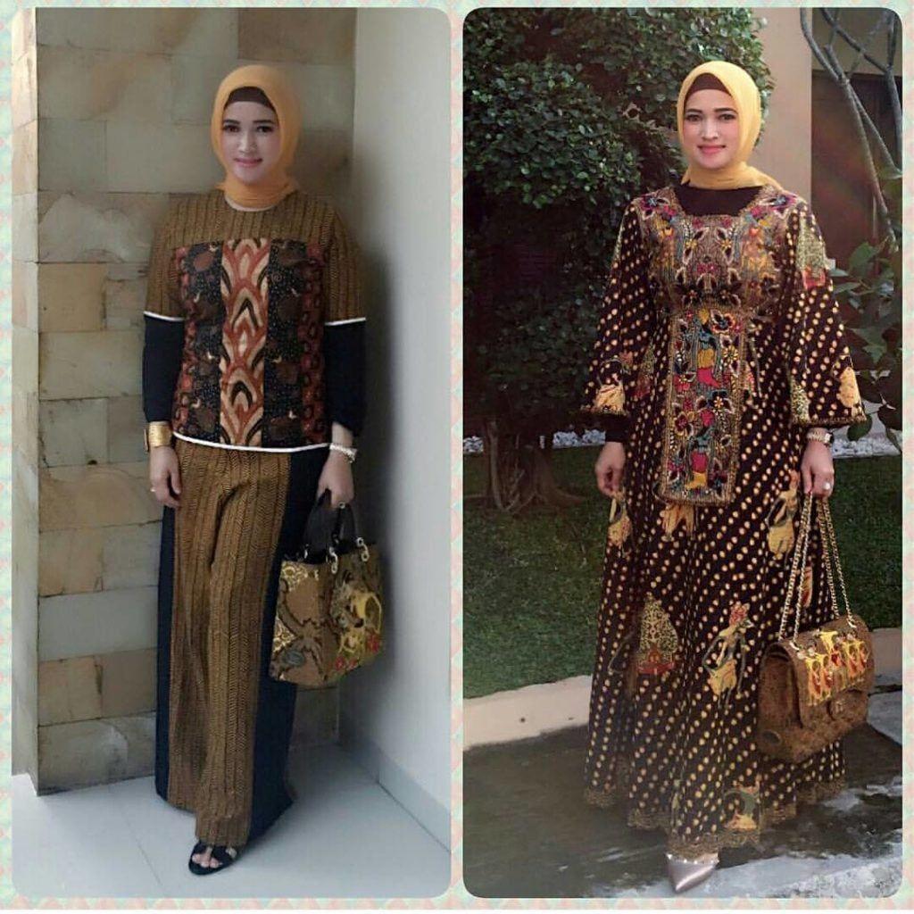 Model Gamis Batik Couple Orang Gemuk di 9  Wanita, Model