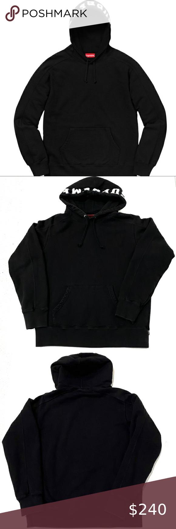 Supreme Paneled Hooded Sweatshirt Black Fw2018 Black Sweatshirts Hooded Sweatshirts Sweatshirts [ 1740 x 580 Pixel ]