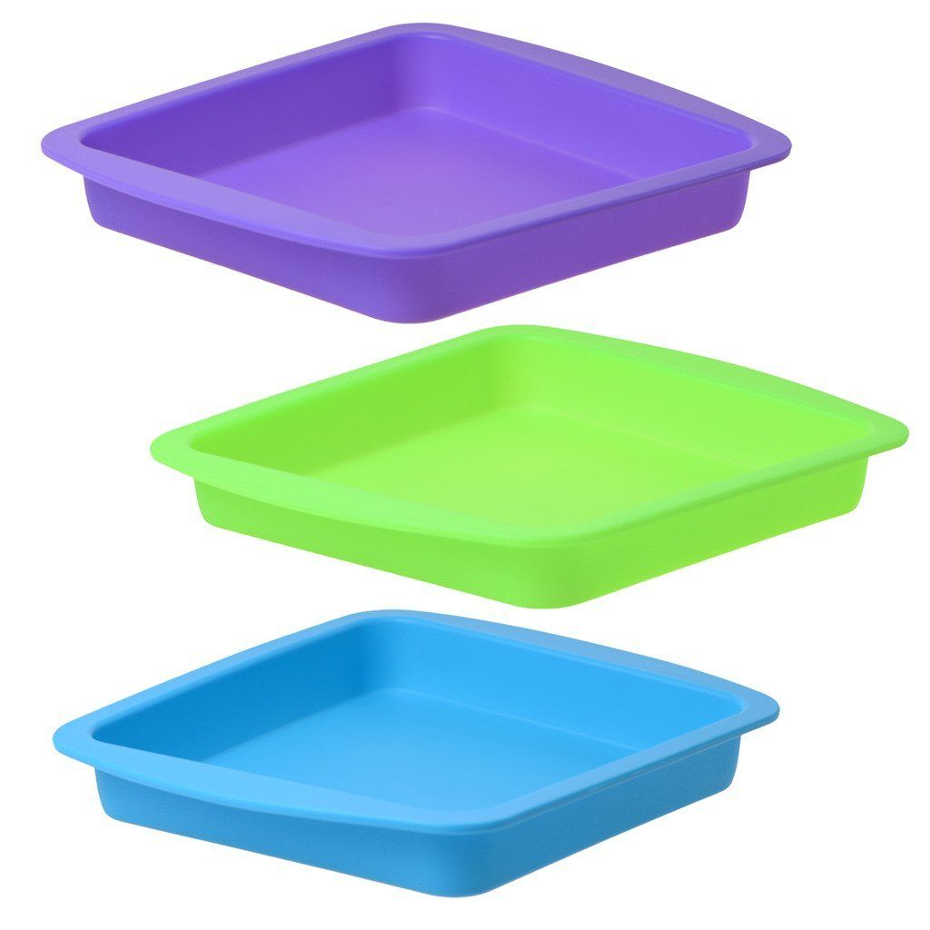 Wax Deep Dish Container Tray - Bulk Set of 3 - Assorted Colors >>> New offers awaiting you  : Bakeware