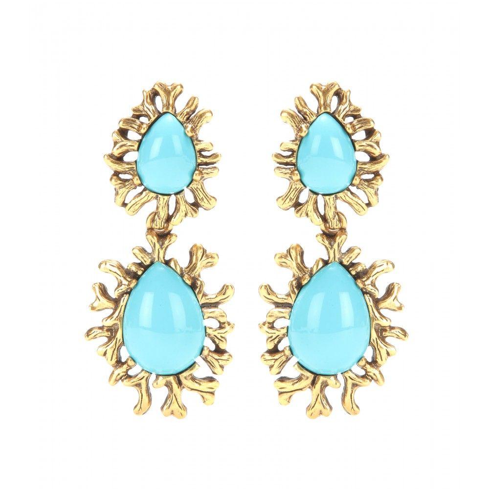 Coral Branch Clip-On Earrings : Oscar de la Renta ☼ mytheresa