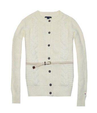 Tommy Hilfiger Women Fashion Belted Cardigan Sweater (XXL, Cream) Tommy Hilfiger. $42.99