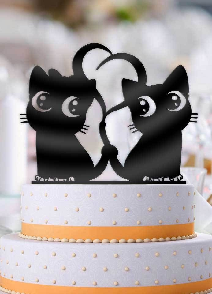 Cute Anime Cats Cake Topper Cat Cake Topper Cat Wedding Anime