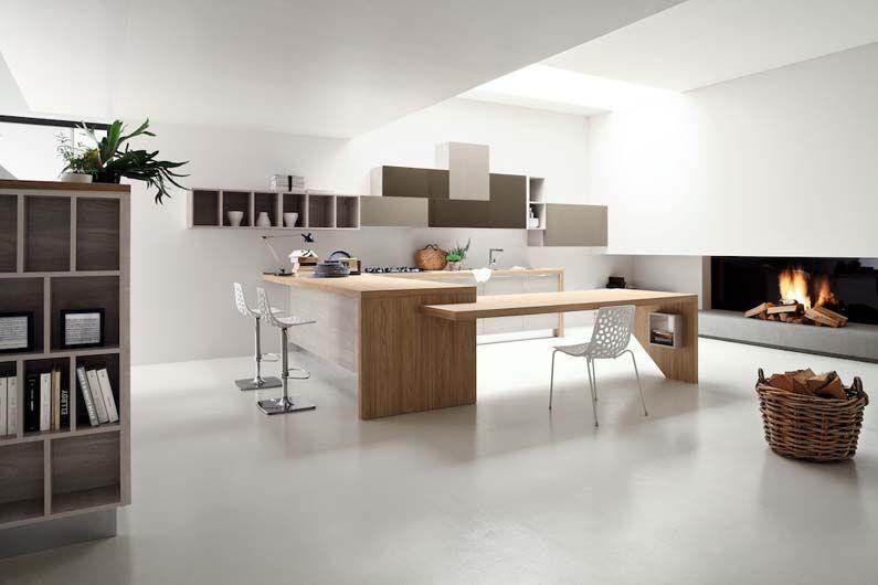TIMO, il design in cucina. Composizione con basi e colonne in ...
