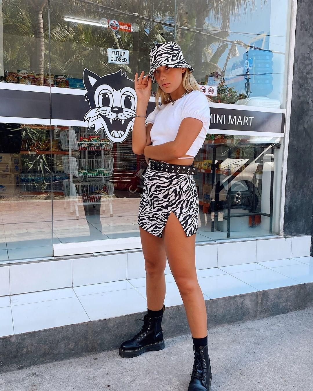 Motel Bucket Hat In 90 S Zebra By Motel Hat Outfits With Hats Fashion Outfits Festival Outfits