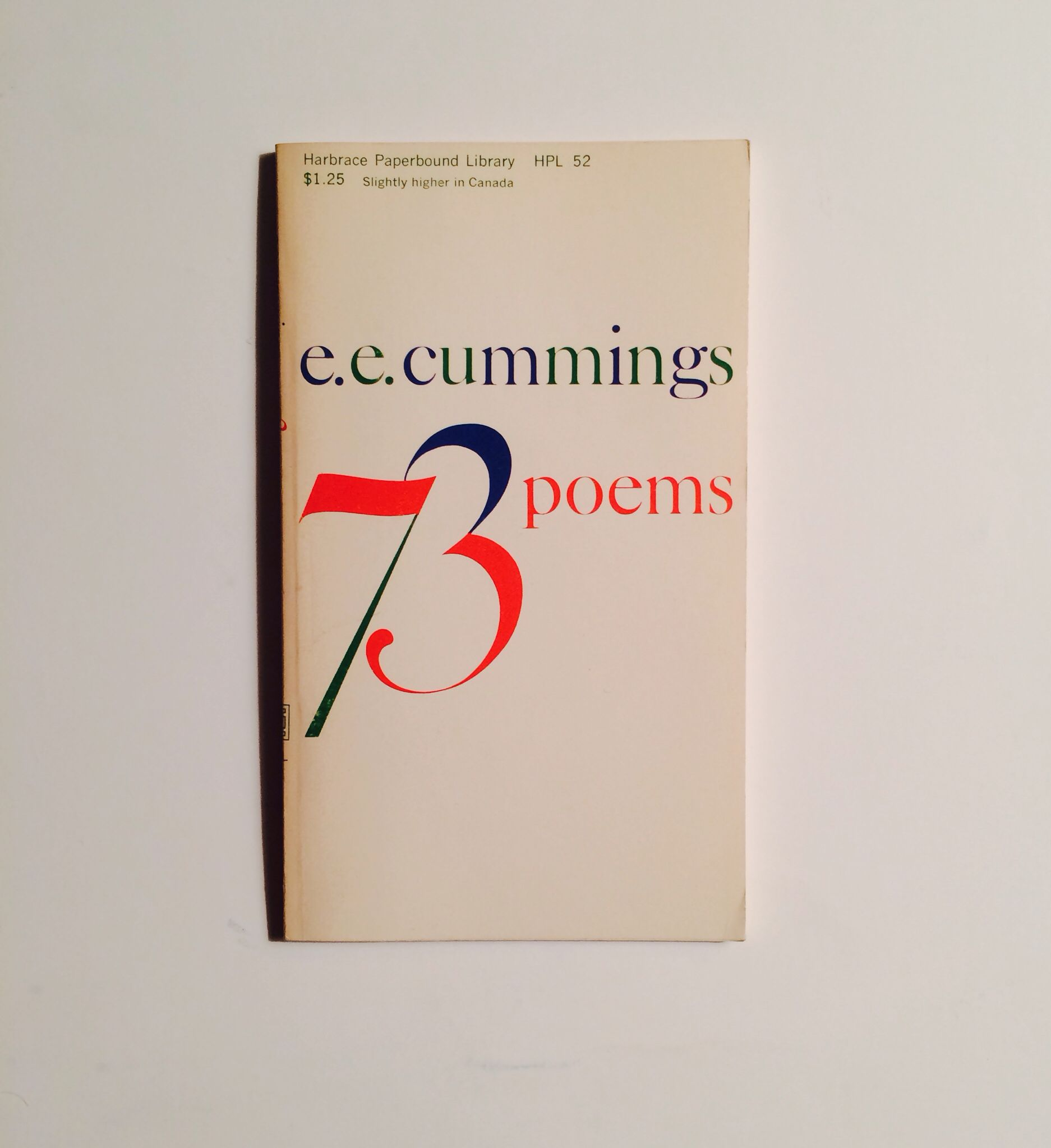 poems by ee cummings harcourt brace jovanovich ny c  73 poems by ee cummings harcourt brace jovanovich ny c 1951