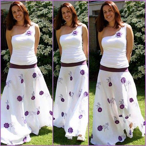 28d70a8474b Pro fialkovou vílu II Originální a nepřehlédnutelná dlouhá letní sukně z  úžasného