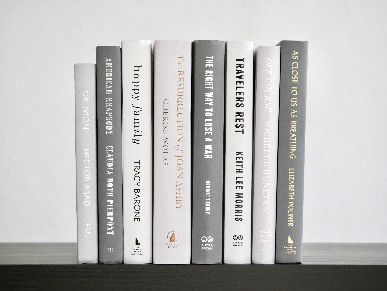 Bundle Of Gray Decorative Books Gray Book Stack Books For Book Decor Shelf Decor Black And White Books